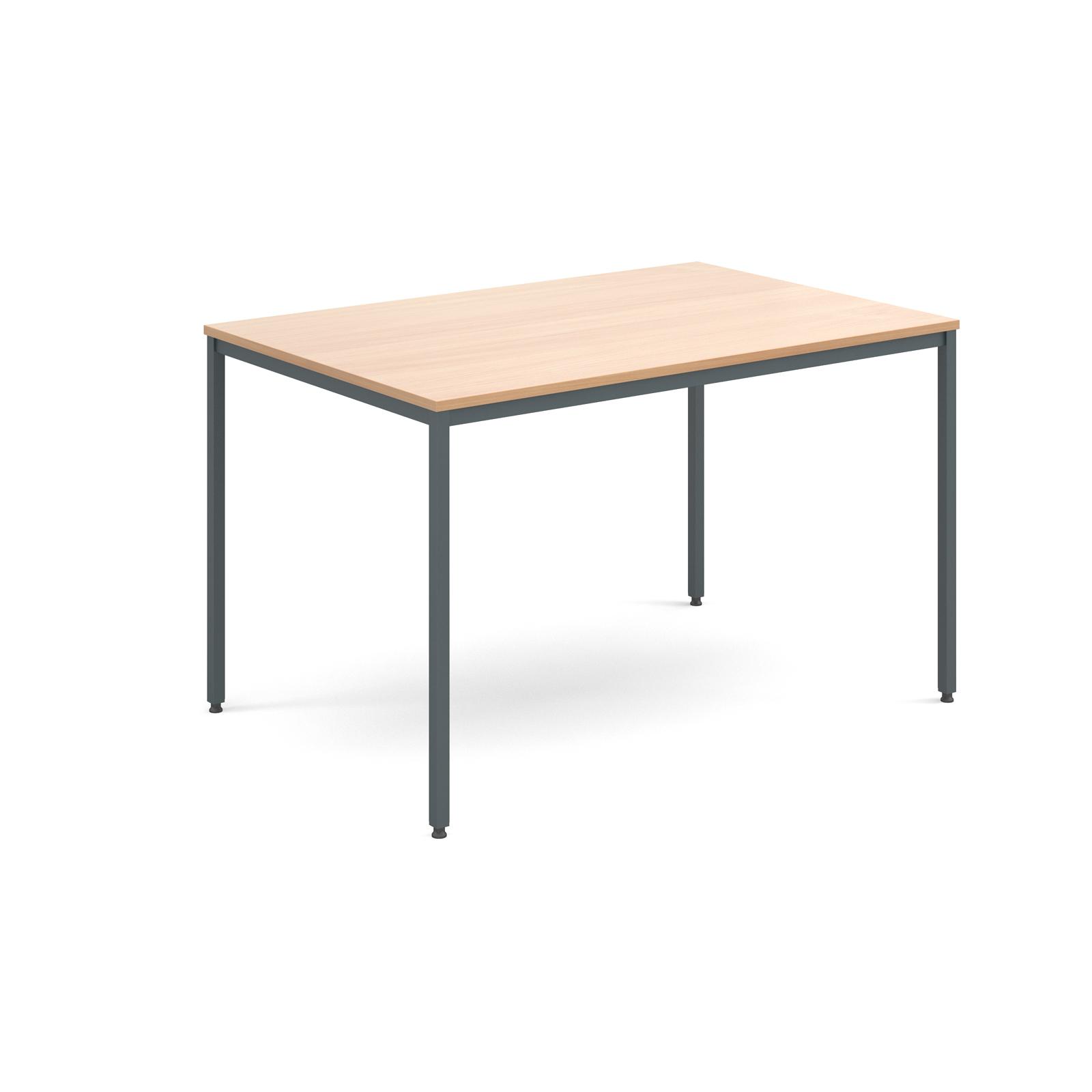 Rectangular flexi table with graphite frame