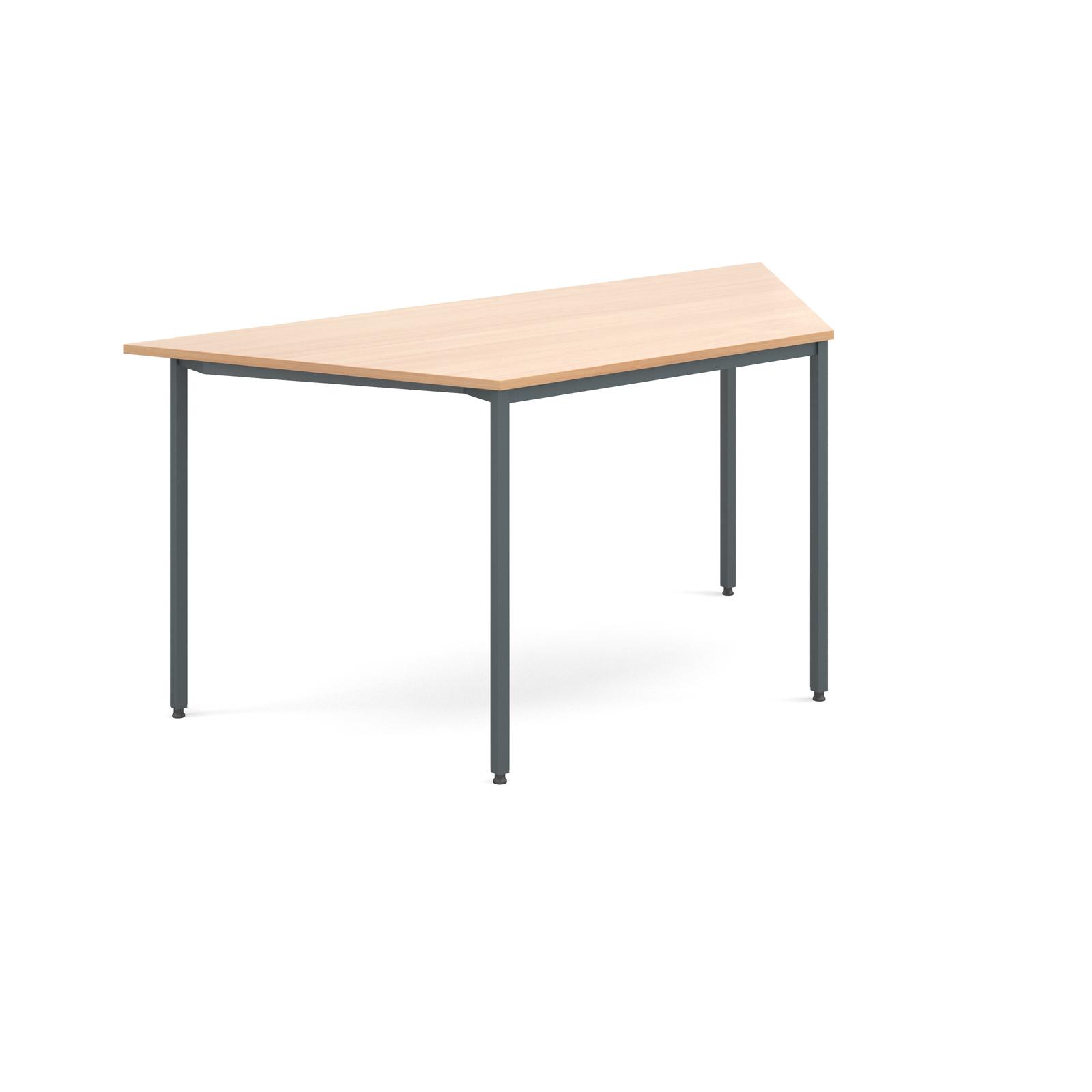 Trapezoidal flexi table with graphite frame