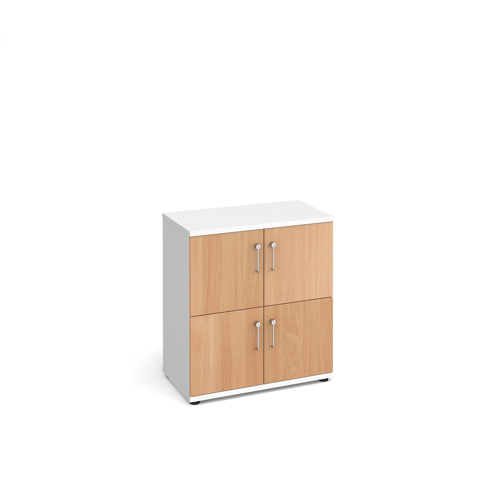 Wooden storage lockers