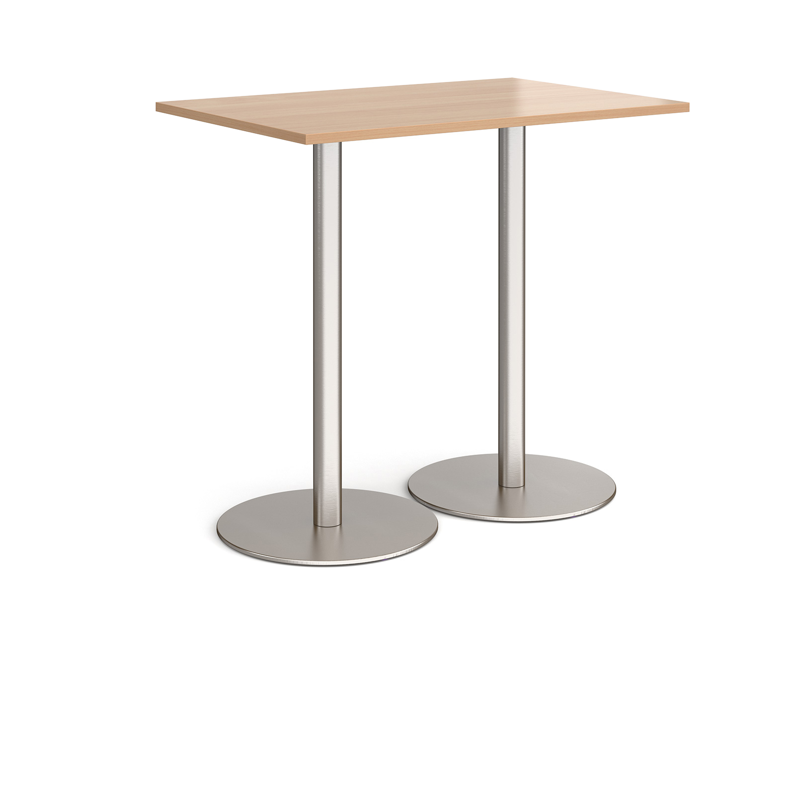 Monza rectangular poseur table with round bases