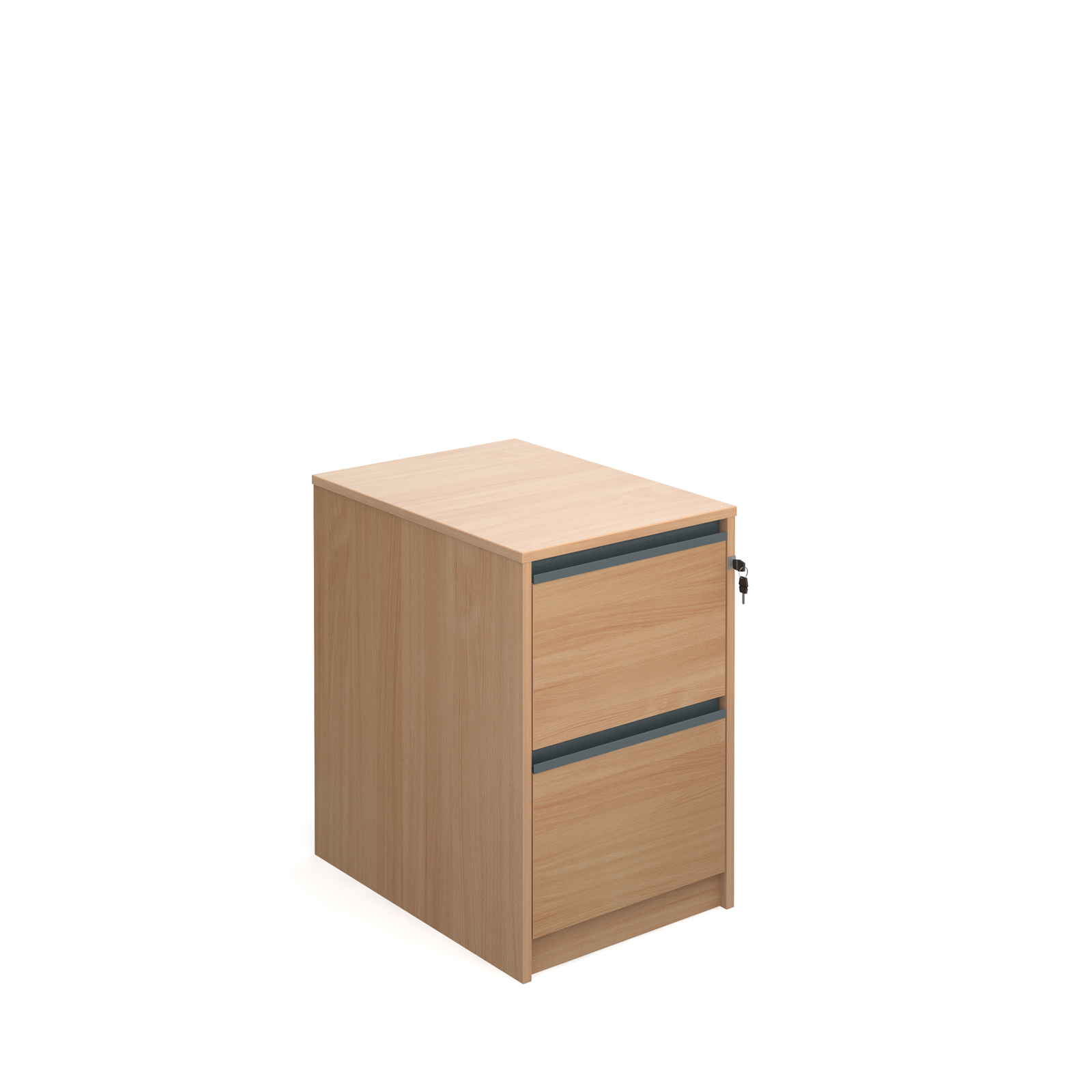Filing cabinet with finger pull handles