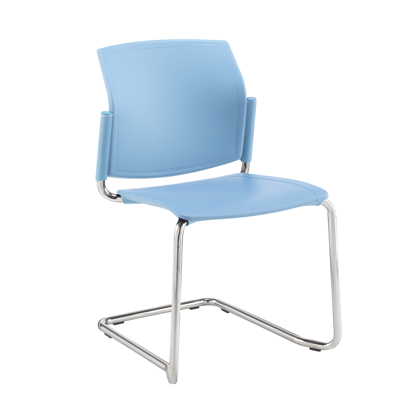 Santana cantilever chair with plastic seat and back