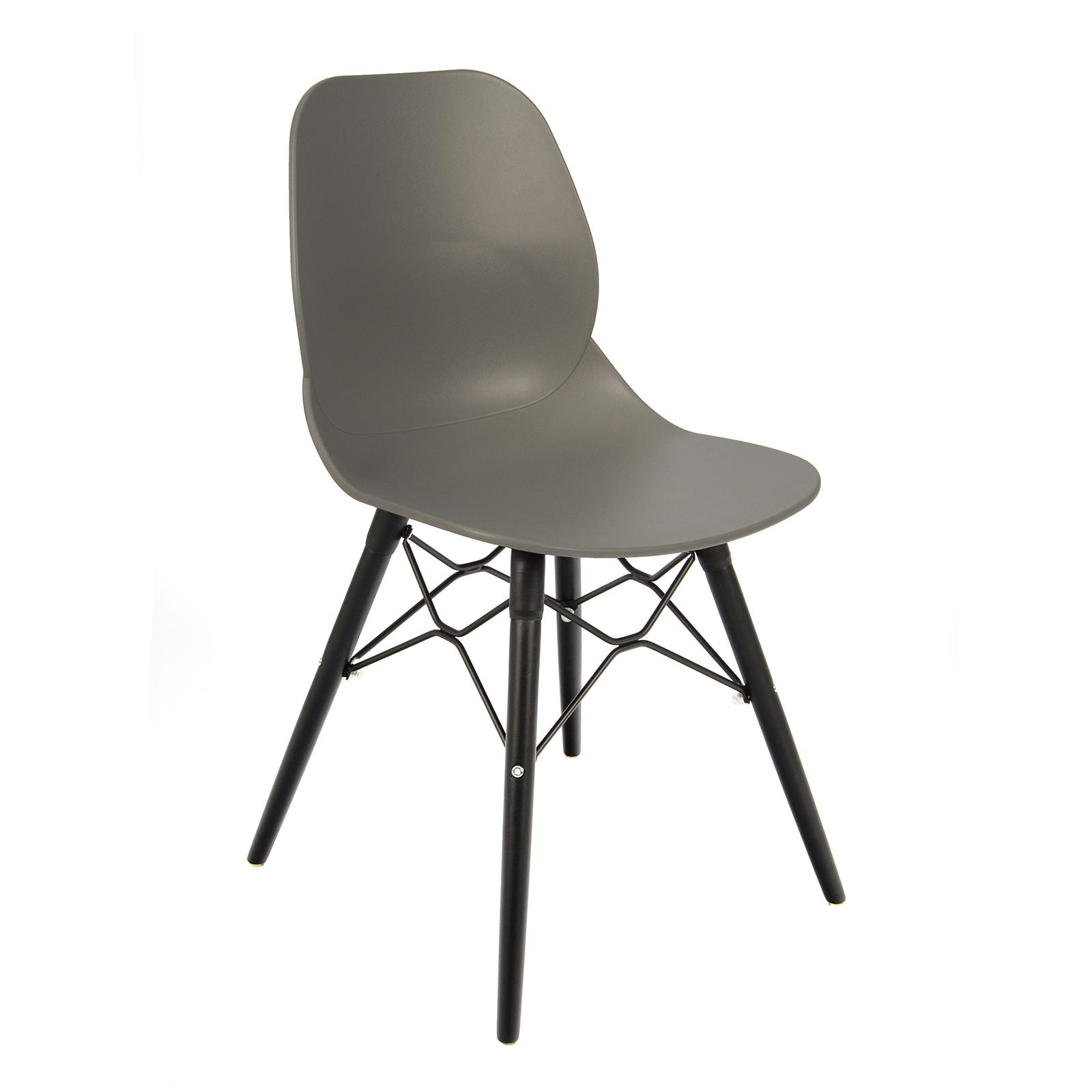 Strut multi-purpose chair with black steel frame