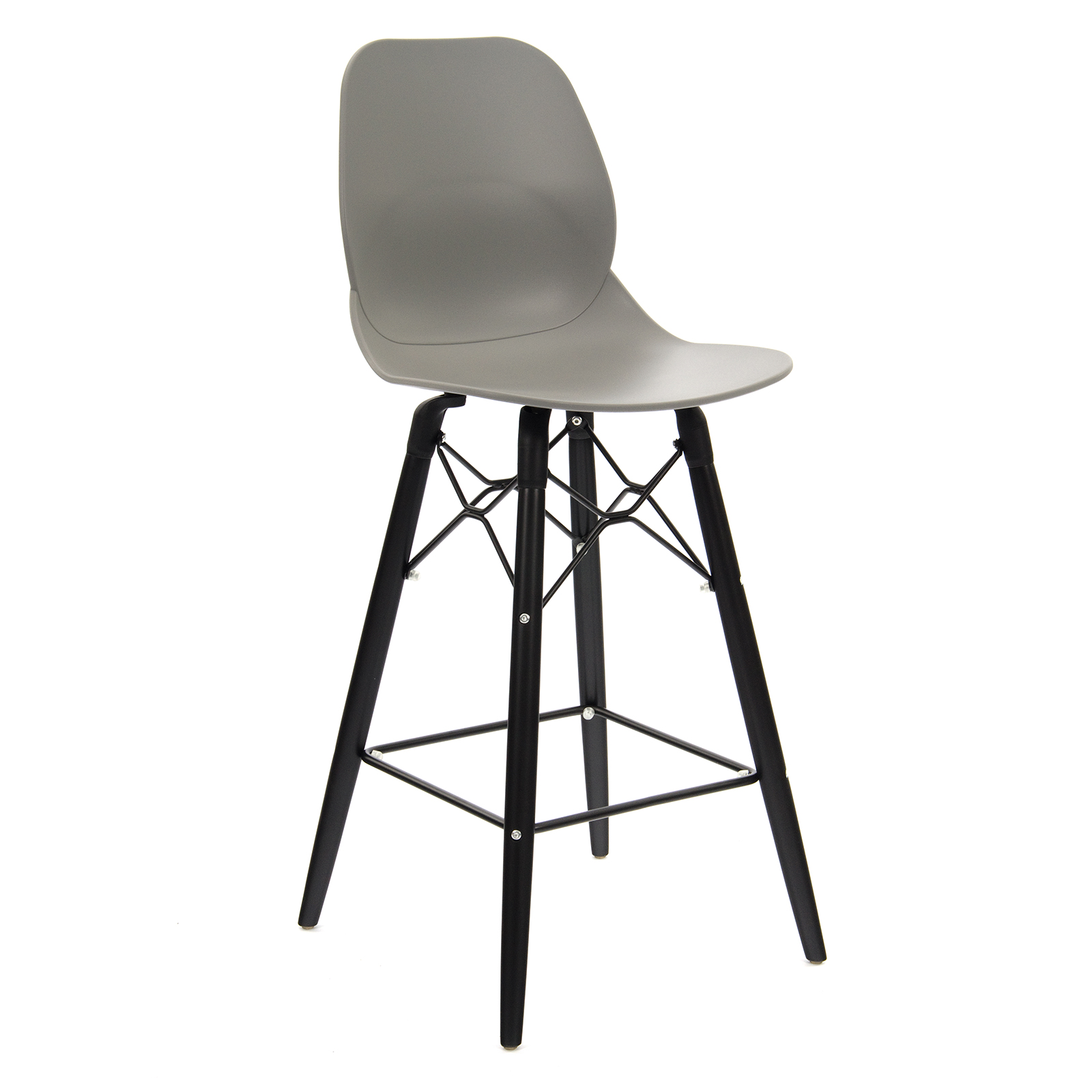 Strut multi-purpose stool with black steel frame