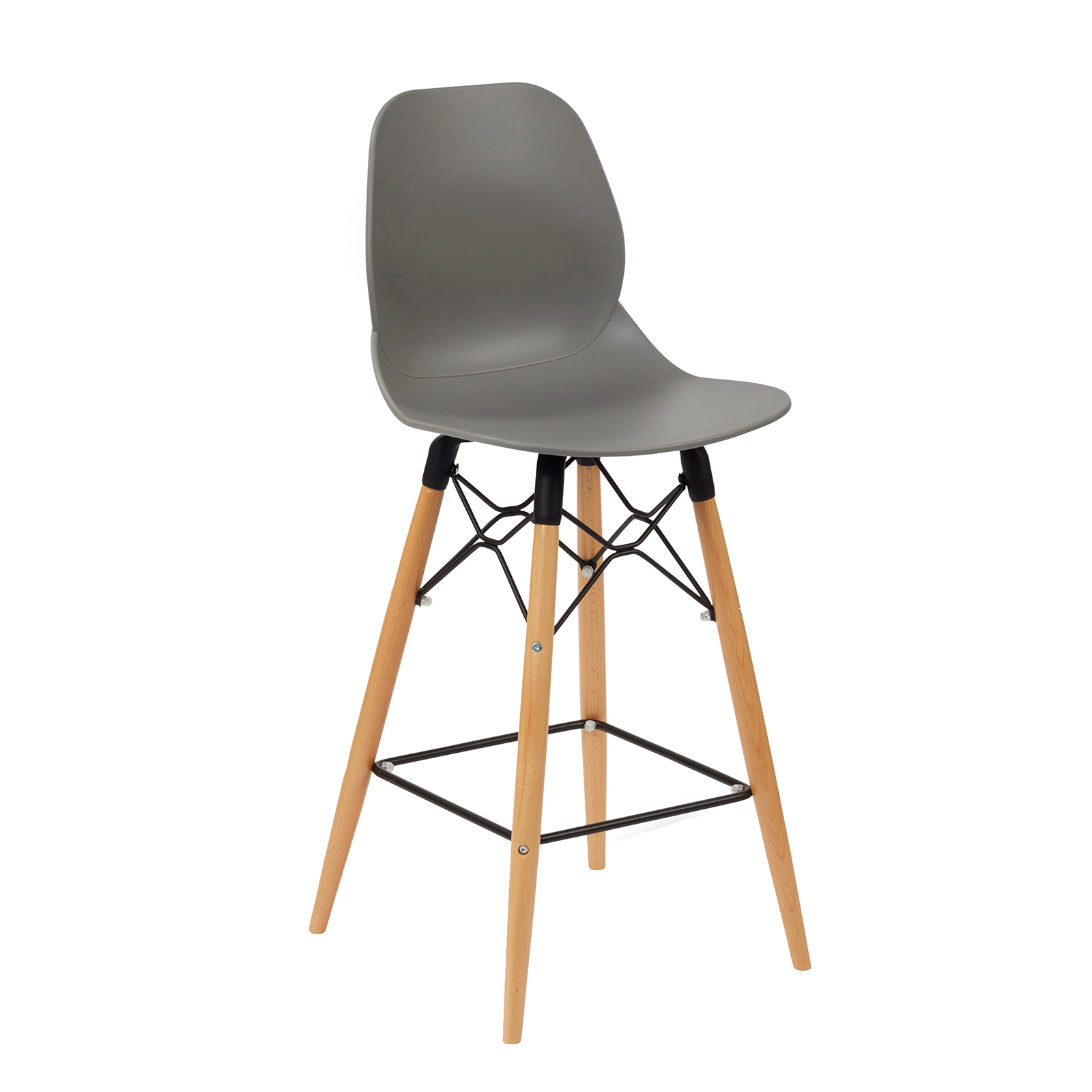 Strut multi-purpose stool with wooden frame