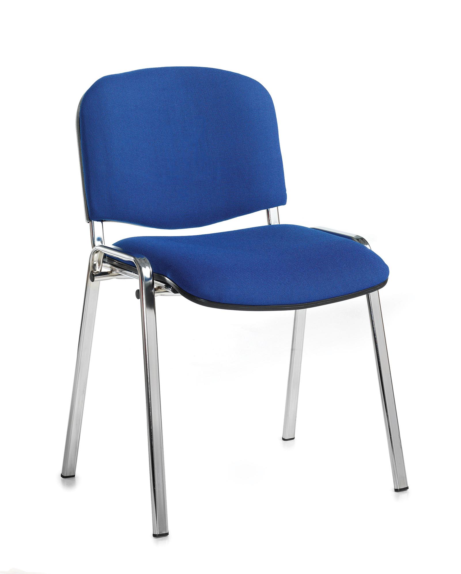 Taurus meeting room chair with chrome frame