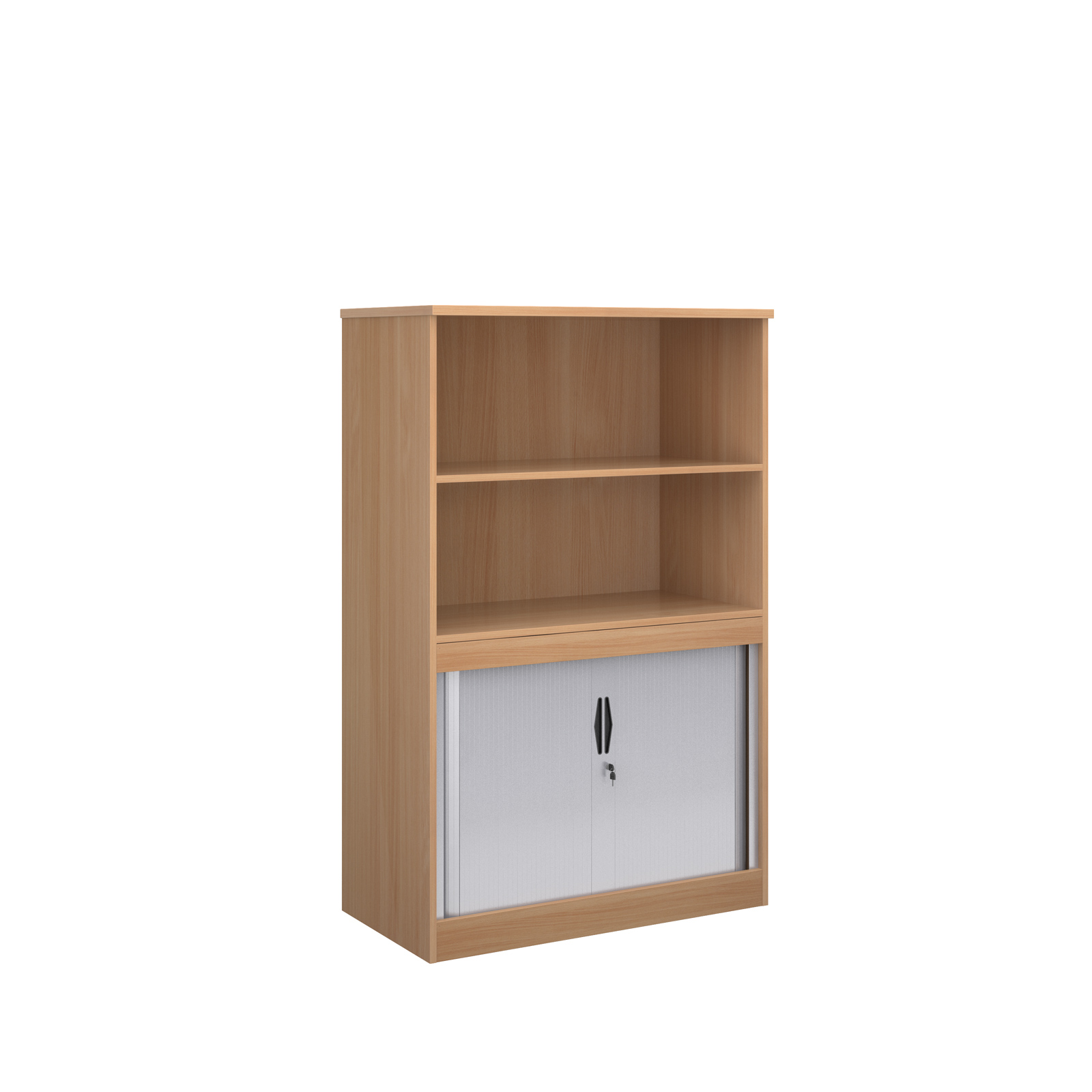 Systems combi unit with tambour and open top
