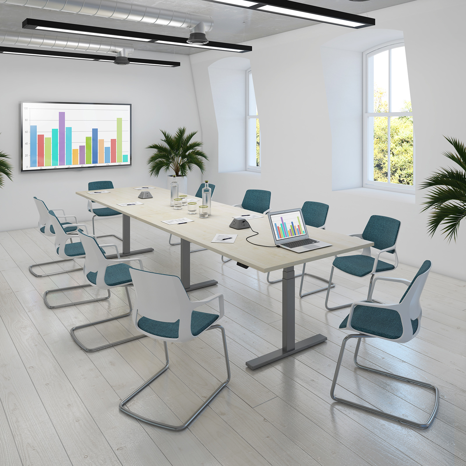 Elev8 Touch Sit-Stand Boardroom Tables