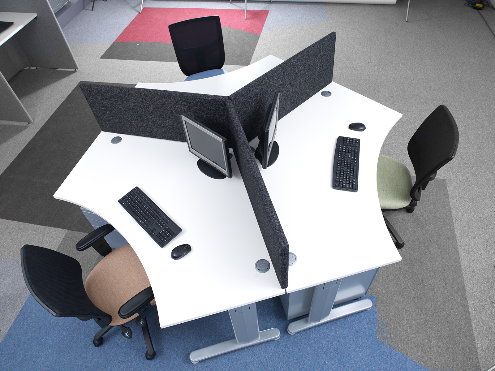 TR10 Desk System (Choose From 4 Shapes)
